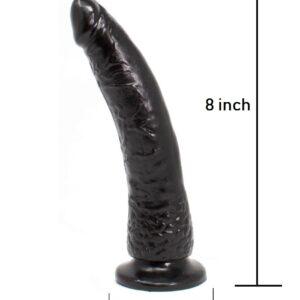 Black dildo size